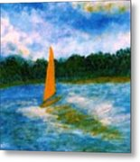 Summer Sailing Metal Print
