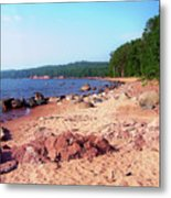 Summer Shores Of Lake Superior Metal Print
