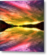 Summer Skies At Skaha Metal Print