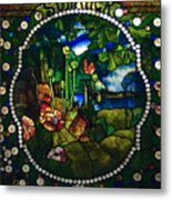 Summer Stained Glass Panel Metal Print