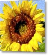 Summer Sunflower Metal Print