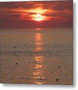 Summer Sunrise Rockport, Ma Metal Print