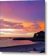 Summer Sunset After The Storm Metal Print