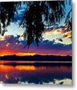 Sunset At Agency Lake, Oregon Metal Print