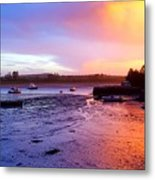 Summer Sunset At Low Tide Metal Print
