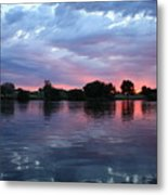 Summer Sunset On Yakima River 4 Metal Print