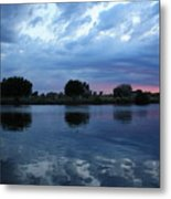 Summer Sunset On Yakima River 5 Metal Print