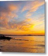 Summer Sunset Over Ipswich Bay Metal Print