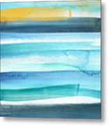 Summer Surf 2- Art By Linda Woods Metal Print