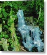 Summer Waterfall In West Milton Metal Print