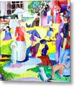 Summer With In The Park With George Metal Print