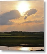 Summers Evening In North Yorkshire Metal Print