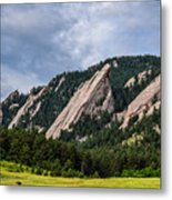 Summertime At The Flatirons Metal Print