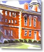 Summery Afternoon Sunshine At The Courthouse Metal Print