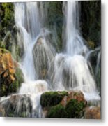 Summit Creek Waterfalls Metal Print