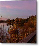 Summit Lake Magic Hour  Metal Print