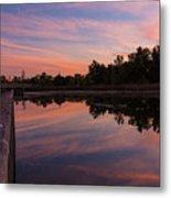 Summit Lake Reflected Sunset   Metal Print