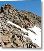 Summiting The Mount Massive Summit Metal Print