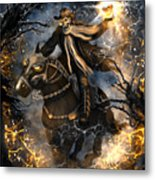 Summoned Skull Fantasy Art Metal Print