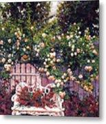 Sumptous Cascading Roses Metal Print by David Lloyd Glover
