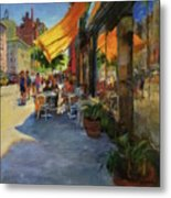 Sun And Shade On Amsterdam Avenue Metal Print