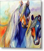 Sun And Shadow Equine Abstract Metal Print