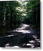 Sun And Shadow Road In Summer Imp Wc Metal Print