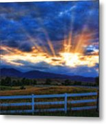 Sun Beams In The Sky At Sunset Metal Print by James BO  Insogna