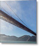 Sun Beams Through The Golden Gate Metal Print