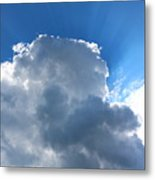 Sun Behind The Clouds 4 Metal Print