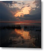 Sun Behind The Clouds Metal Print