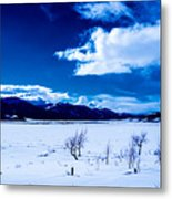 Sun Break On The Lake Metal Print