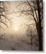 Sun Breaking Fog II Metal Print