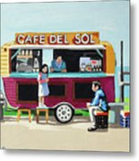 Sun Coffee Metal Print