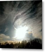 Sun Dog And Sunshine Metal Print