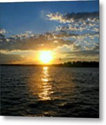 Sun Down Day Metal Print
