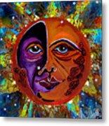 Sun Duality Metal Print