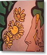 Sun Flower Conection Metal Print