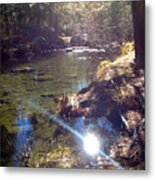 Sun Glare Off River Metal Print