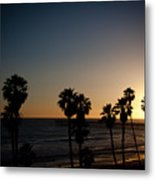 Sun Going Down In California Metal Print
