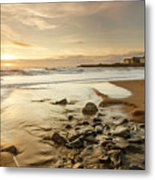 Sun Going Down Over Spanish Point Metal Print
