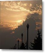 Sun In A Cloud Of Glory Metal Print