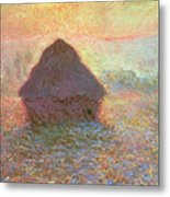 Sun In The Mist Metal Print
