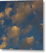 Sun Kissed Clouds Metal Print