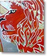 Sun Lion Metal Print