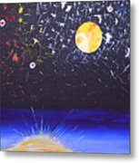 Sun Moon And Stars Metal Print by Donna Blossom