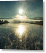 Sun O'er Missouri River Metal Print