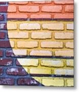 Sun On Bricks Metal Print