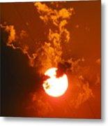 Sun On Fire Metal Print
