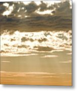 Sun Rays And Clouds Over Santa Cruz Metal Print